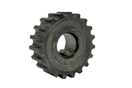 a gear for a car on a white background photo