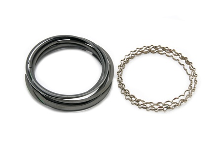 New Auto piston rings on a white background photo