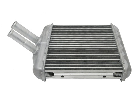 Auto nuovo radiatore su uno sfondo bianco Archivio Fotografico