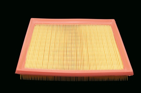 an air filter to the car on a white background photo