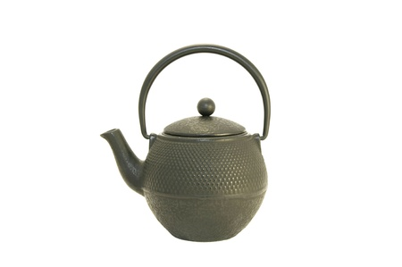 new black metal kettle on a white background Stock Photo - 13158053