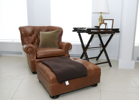 a large lounge chair