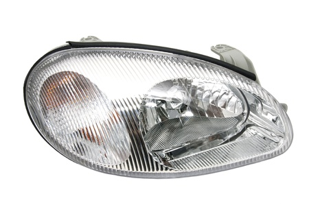 new car headlights on a white background Фото со стока - 13599883