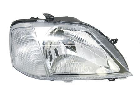 new car headlights on a white background photo