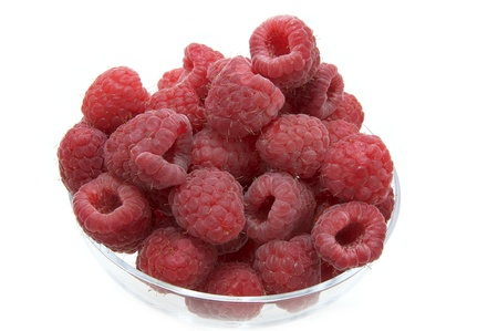 raspberry on white background in the restaurant Stock Photo - 13753839