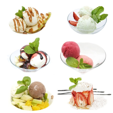 ice cream and sorbet are several types of photo