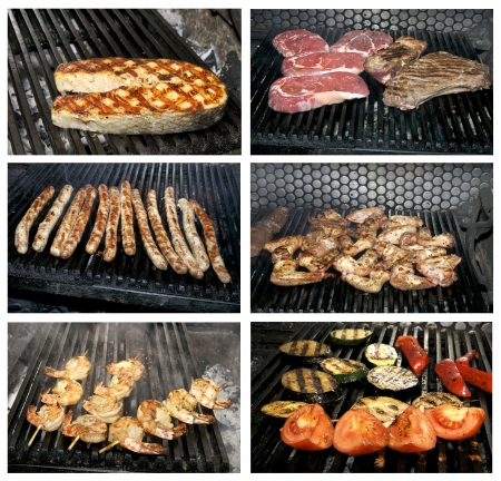 steaks cooked on a grill in the restaurant Stock Photo - 13849430