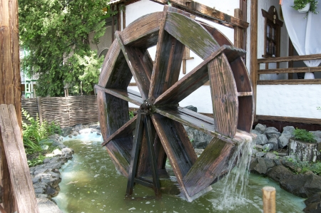 gristmill: working watermill Stock Photo