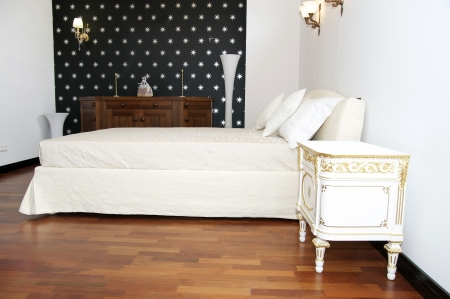 comfortable and cozy white bedroom Stock Photo - 13936029