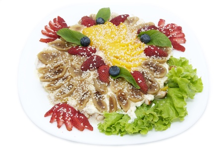 aliments: salad with figs and fruit