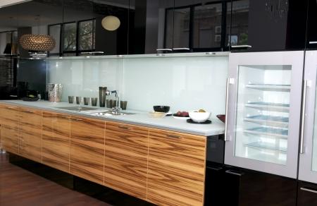 azulejos cocina: bonito interior con muebles y electrodom�sticos de cocina