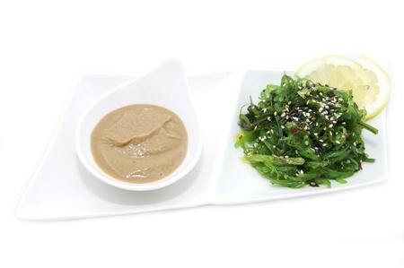 salad with exotic marine algae on a white background Stock Photo - 14377538