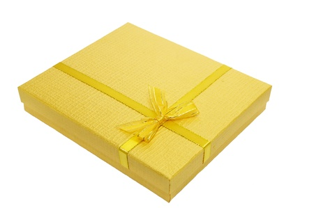 Gift boxes on white background photo