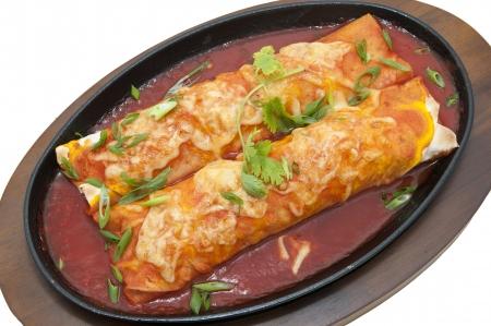 mexican food: Platos de comida mexicana en el restaurante en un fondo blanco Foto de archivo