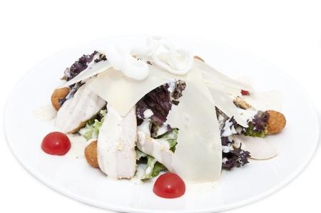 ensalada de verduras, carne y queso Foto de archivo - 14901385