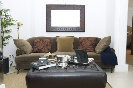 a large comfortable living room with lots of lights Stock Photo - 15307393