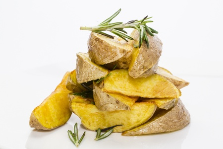 fried potatoes Stock Photo - 18404269