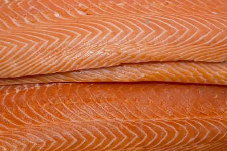 Fresh salmon fillet fish meat photo
