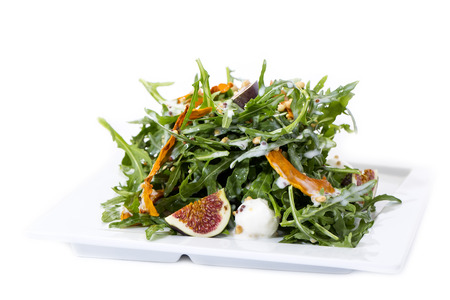 salade de roquette figues et fromage blanc photo