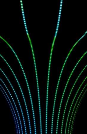 Neon abstract background of lines and bokeh Stock Photo - 24288626