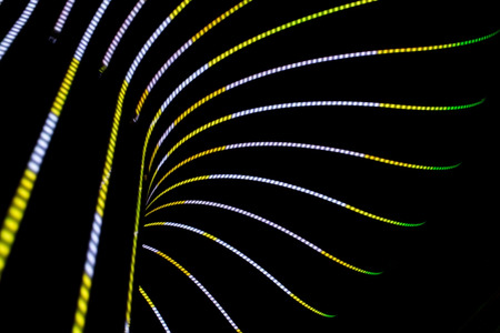 Neon abstract background of lines and bokeh Stock Photo - 27914024