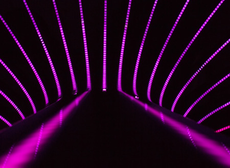 Neon abstract background of lines and bokeh Stock Photo - 28620662