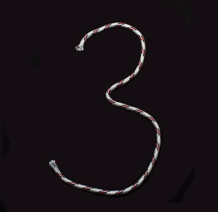 numeral of rope on a black background photo