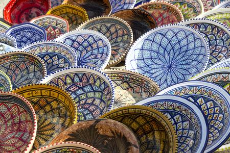 ceramics: tradizionale tunisina mercati ceramiche tunisia Archivio Fotografico