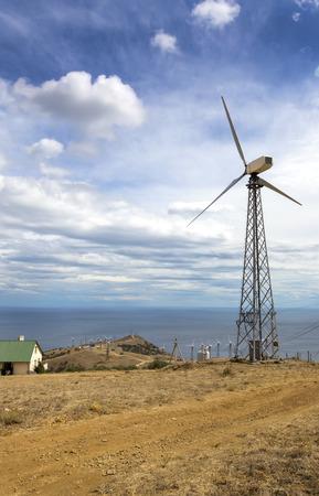 generate: wind turbine to generate electricity