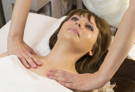 massage and facial peels at the salon cosmetics photo
