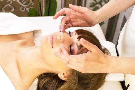 massage and facial peels at the salon cosmetics photo