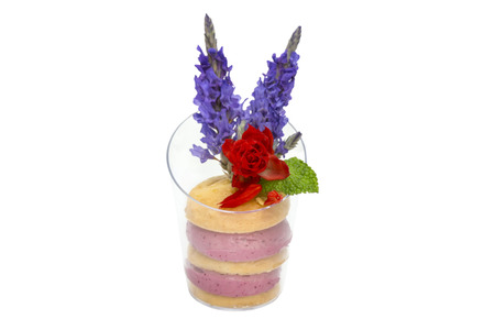 girdle: canaps with edible flowers meat cheese and seafood
