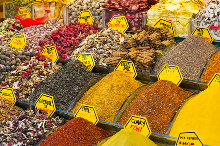 teas: teas and spices market egipetskom in Istanbul