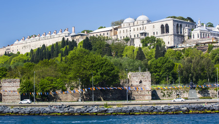 istanbul beach: Panorama of view from the Golden Horn on the duct slopes City