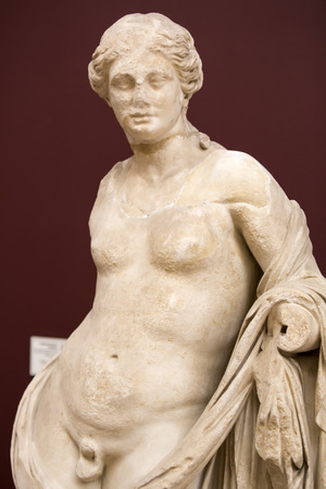 archaeology: ISTANBUL TURKEY MAY 16 2015: Istanbul Archaeology Museum exhibits of sculptures and basreliefs of antiquity on MAY 16 2015 in Istanbul Turkey