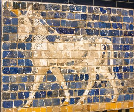 babylonian: Fragmento de la Puerta de Ishtar de Babilonia