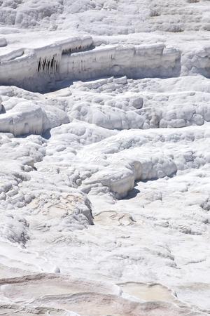 pamuk: Pamukkale montagna bianca in Turchia nel bel mezzo della stagione estiva