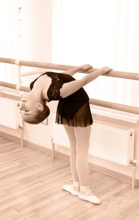 girlie: little girl dressed as a ballerina in ballet