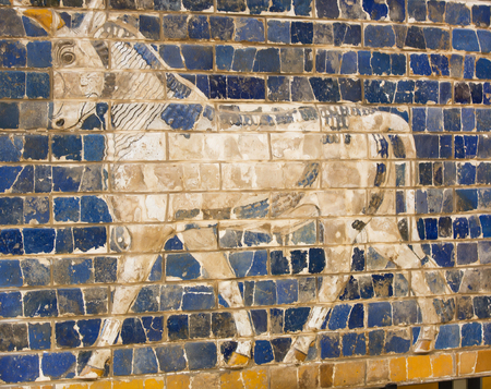 ishtar gate of babylon: Fragment of the Babylonian Ishtar Gate
