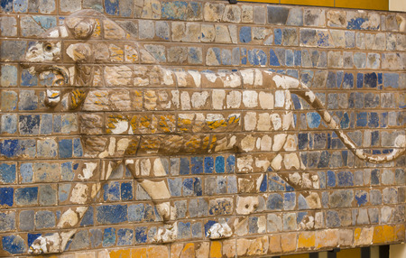 busts: Fragment of the Babylonian Ishtar Gate