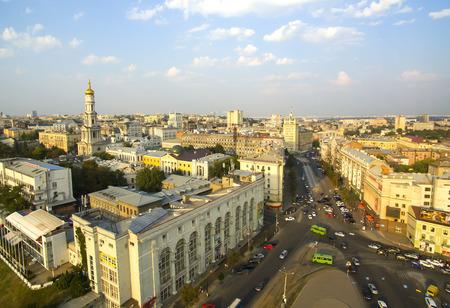 kharkov: Kharkiv, Ukraine - September 2, 2015: Aerophotographing central square of the city of Kharkiv