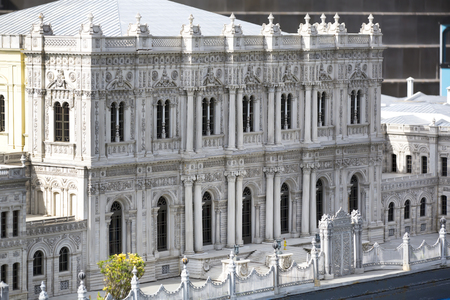 copies: ISTANBUL, TURKEY - 9 OCTOBER, 2015: Miniaturk in Istanbul, Turkey. Miniature copies of the Ancient World Architecture