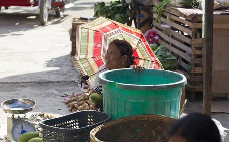 nido: El NIDO, PHILIPPINES - FEB. 12: Village Asian market for the sale of fruit and vegetables El Nido FEB. 12, 2016 in El Nido Philippines. Editorial