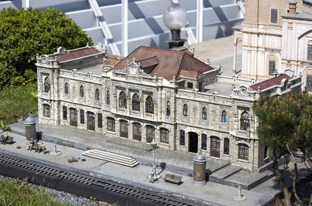 copies: ISTANBUL, TURKEY - 4 APRIL, 2016: Miniaturk in Istanbul, Turkey. Miniature copies of the Ancient World Architecture Editorial