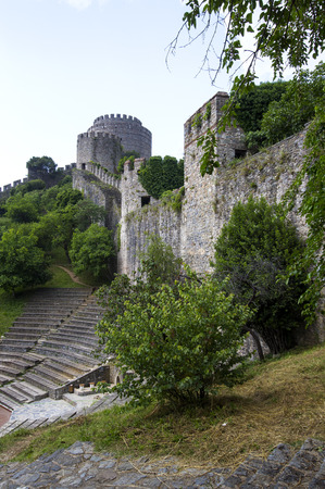 rumeli: Ancient Rumeli Fortress in Istanbul, on the shores of the Bosphorus Strait Editorial
