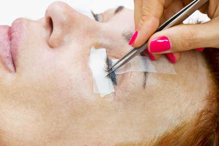 the application process in the beauty salon Stock Photo
