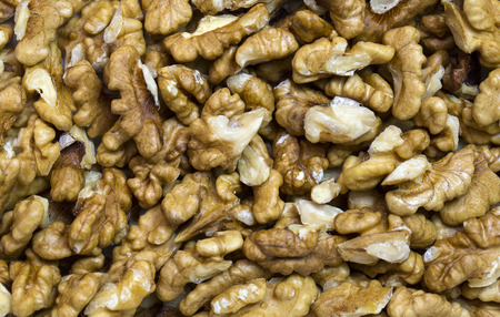 nutty: background walnuts close-up shot Mixed Salted Nutty Stock Photo