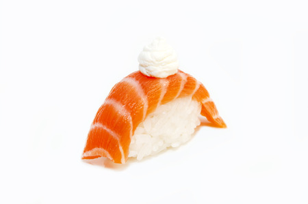 delicious seafood sushi at a Japanese restaurant Stock Photo