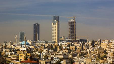 JORDAN, AMMAN - 12 JANVIER 2017: Panorama d'Amman, capitale de la Jordanie: 12 JANVIER 2017 en Jordanie. Amman