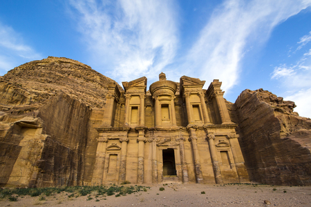 Ancient abandoned rock city of Petra in Jordan tourist attraction Stock Photo